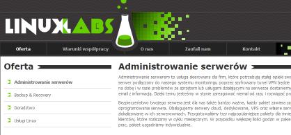 LinuxLabs - Administracja i monitoring serwerów Linux